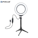 """Puluz 6.2"""" Led Ring light Stand set kit USB 3 Modes Dimmable LED Ring Vlogging Photography Video Lights with Cold Shoe Tripod Ball Head PU377"""