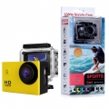 Sj50 HD 1080p Full 2.0 Inch Action Sport Camera for Travel Full Set with accessories Yellow