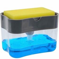 Delly Soap Dispenser Pump Sponge Caddy New Creative Kitchen 2-in-1 Manual Press Liquid kicthen SDS-DR