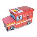 Delly Bomba Truck Toys Organizer for Kids Clothes Box Folding Cartoon Car -Red BST-R