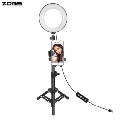 Zomei Ring Light set 6 inch with Mobile bracket Holder Bracket for Live Video (ZRL-6)