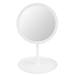 Delly LMM-1W LED Makeup Mirror with Touch Sensor Table Beauty White with stand light Face Cosmetic Mirror with Storage
