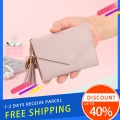 Delly Women Purse Fashion Korean Leather Wallet Short style Purse Zip Card coin Holder – Light Purple SWP-LPP