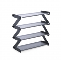 Delly Z Design fashion home Shoe Storage Durable Shoe Rack aluminium canvas Gray ZSR-G