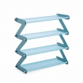 Delly Z Design fashion home Shoe Storage Durable Shoe Rack aluminium canvas Blue Light ZSR-B