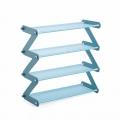 Delly Z Design fashion home Shoe Storage Durable Shoe Rack aluminium canvas Blue Light ZSR-B