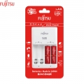 Fujitsu Eco Pack Basic Charger with 2pcs AA 950mah Battery Set (FCT345CEFXL (B))