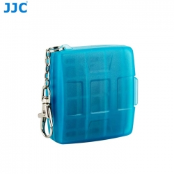 JJC MC-11B Memory Card Holder case fit for 4SD 4MicroSD (BLUE)