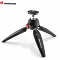 Manfrotto PIXI EVO 2 section mini table tripod for camera DSLR portable travel (Black)