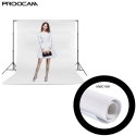 Proocam NWC-330-GR 3 X 3 meter Non woven cloth background for photographer - White
