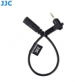 JJC Cable-2535 90 Degree 2.5mm Male to 3.5mm Female Microphone Adapter Converter for X-Pro2 X100F X100T X-T1 X-T20