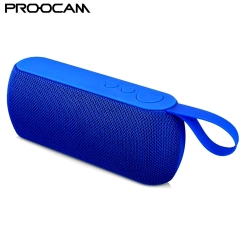 PROOCAM Q106-Blue Wireless Portable Bluetooth Speaker Stereo Compatible TF Card FM Radio AUX Input Outdoor Blue