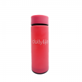 Dellylife Pink Travel drinkware 450ml Portable bottle Business water tumblr for tea glass drinking bottle TDP-PI